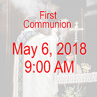 St Catherine of Siena Norwood MA First Communion celebration on May 6, 2018, at 9:00 AM