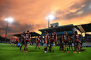 Crusaders players after winning their Super Rugby match. Crusaders v Waratahs. Trafalgar Park, Nelson, New Zealand. Saturday 1 February 2020. ©Copyright Photo: Chris Symes / www.photosport.nz