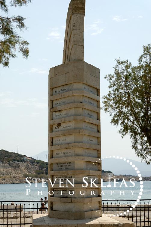 War memorial. Pythagoreio. Samos. Greece.