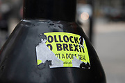 Bollocks to Brexit sticker in London, England, United Kingdom.