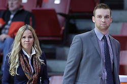 01 November 2017:  Amy Gibson & John Fisher  during a Exhibition College Women's Basketball game between Illinois State University Redbirds the Red Devils of Eureka College at Redbird Arena in Normal Illinois.