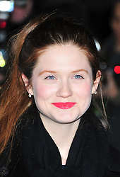 © Licensed to London News Pictures. 06/02/2012.  England. Bonnie Wright attends the Evening Standard Film Awards at County Hall westminster London Photo credit : ALAN ROXBOROUGH/LNP