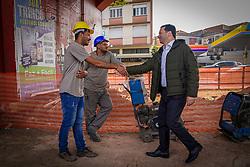 Porto Alegre, RS 26/08/2019: Prefeito Nelson Marchezan Júnior em visita para acompanhar início da obra de implantação de nova rede de drenagem F1 - Macrodrenagem do Arroio Areia, na manhã desta segunda-feira (26). Foto: Jefferson Bernardes / PMPA