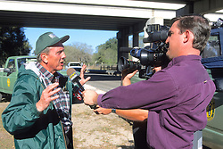 George Gee Talking To Media About Whooping Crane Project