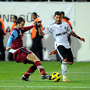 Besiktas's Ricardo QUARESMA (R) and Trabzonspor's Remzi Giray KACAR (L) during their Turkey Cup Group B matchday 5 soccer match Besiktas between Trabzonspor at the Inonu stadium in Istanbul Turkey on Wednesday 26 January 2011. Photo by TURKPIX