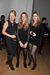 Left to right, IWONA BLAZWICK, BELLA BLAZWICK-NOBLE and MIRA BODENMULLER at the Swarovski Whitechapel Gallery Art Plus Fashion fundraising gala in support of the gallery's education fund held at The Whitechapel Gallery, 77-82 Whitechapel High Street, London E1 on 14th March 2013