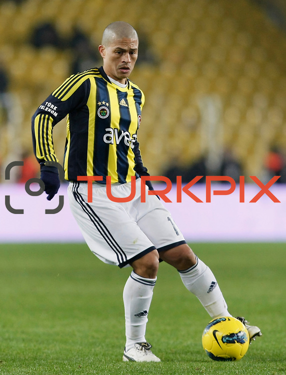 Fenerbahce's Alexsandro de Souza during their Turkish superleague soccer match Fenerbahce between Gaziantepspor at the Sukru Saracaoglu stadium in Istanbul Turkey on Monday09 January 2011. Photo by TURKPIX