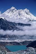 Mts Everest, Lhotse & Nuptse from Renjo La, Khumbu Himal, Nepal.