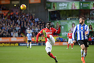 Naby Sarr of Charlton Athletic in action.  Skybet football league championship match, Charlton Athletic v Sheffield Wednesday at The Valley  in London on Saturday 7th November 2015.<br /> pic by John Patrick Fletcher, Andrew Orchard sports photography.