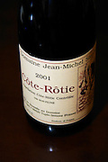 Bottle of Domaine Jean-Michel Stephan 2001 Cote Rotie non-filtered wine, Tupin-Semons.  Ampuis, Cote Rotie, Rhone, France, Europe