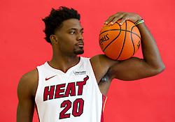 September 25, 2017 - Miami, Florida, U.S. - Miami Heat forward Justise Winslow (20)  at Media Day at AmericanAirlines Arena in Miami, Florida on September 25, 2017. (Credit Image: © Allen Eyestone/The Palm Beach Post via ZUMA Wire)