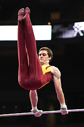 August 18, 2018 - Boston, Massachussetts, U.S - ELLIS MANNON competes on the high bar during the final round of competition held at TD Garden in Boston, Massachusetts. (Credit Image: © Amy Sanderson via ZUMA Wire)
