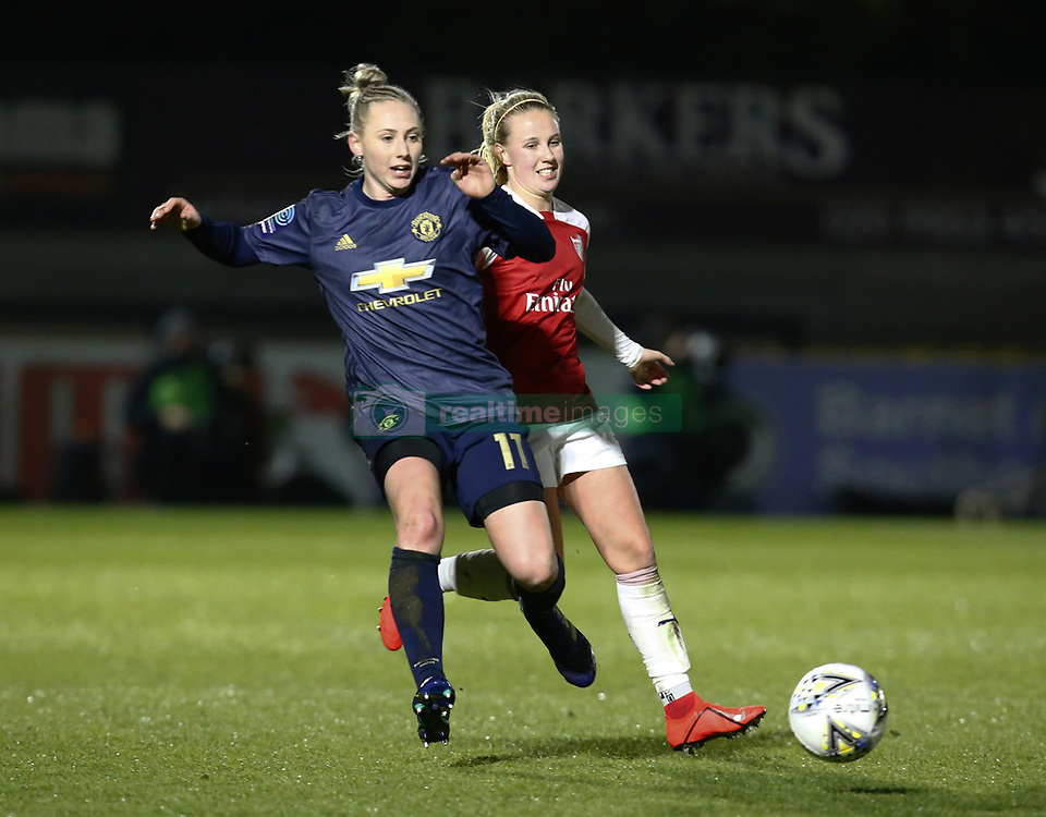 February 7, 2019 - London, England, United Kingdom - Leah Galton of Manchester United Women .during FA Continental Tyres Cup Semi-Final match between Arsenal and Manchester United Women FC at Boredom Wood on 7 February 2019 in Borehamwood, England, UK. (Credit Image: © Action Foto Sport/NurPhoto via ZUMA Press)