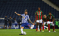 Alex Telles of Porto misses a penalty during the Portuguese League (Liga NOS) match between FC Porto and Maritimo at Estadio do Dragao, Porto, Portugal on 3 October 2020.