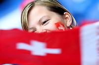 GEPA-0706086024 - BASEL,SCHWEIZ,07.JUN.08 - FUSSBALL - UEFA Europameisterschaft, EURO 2008, Schweiz vs Tschechien, SUI vs CZE. Bild zeigt einen Fan der Schweiz.<br />Foto: GEPA pictures/ Philipp Schalber