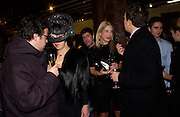 Haluk Akakce, Isabella Blow, Jessica Andrews and Detmar Blow, Party hosted by Isabella Blow in honour of Shaun Leane to celebrate his jewelry collection. Liberty's. London. 8 December 2004. ONE TIME USE ONLY - DO NOT ARCHIVE  © Copyright Photograph by Dafydd Jones 66 Stockwell Park Rd. London SW9 0DA Tel 020 7733 0108 www.dafjones.com