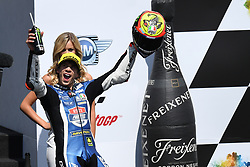 August 12, 2018 - Spielberg, Austria - 12 Italian driver Marco Bezzecchi of Team Pruestl GP during podium ceremony of Austrian MotoGP grand prix in Red Bull Ring  in Spielberg, on August 12, 2018. (Credit Image: © Andrea Diodato/NurPhoto via ZUMA Press)