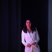 COLUMBIA, SC - OCTOBER 27:  Representative Tulsi Gabard from Hawaii and 2020 Democratic presidential candidate, takes the stages at the 2019 Second Step Presidential Justice Forum in Columbia, South Carolina, U.S., on Sunday, Oct. 27, 2019. The forum asked each participant to focus on what's next now that the First Step Act has been passed. Photographer: Logan Cyrus/Bloomberg