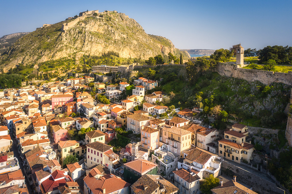 City center of Nafplio, Greece