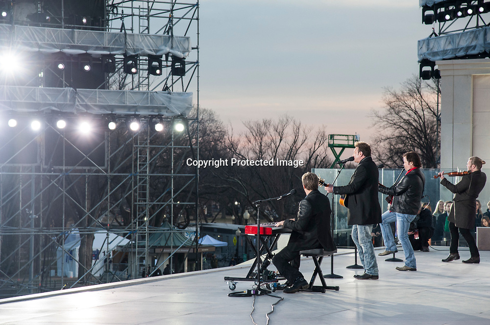 Dustin Beebe, Rick Canzano, Christopher Sink and <br /> Joseph Wheeler of The Frontmen perform during The 58th Presidential Inauguration Welcome Concert at the Lincoln Memorial in Washington DC on January 19, 2017.