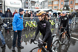 Katie Hall (USA) of Boels-Dolmans Cycling Team rides to the start of the Liege-Bastogne-Liege Femmes - a 138.5 km road race, between Bastogne and Liege on April 28, 2019, in Wallonie, Belgium. (Photo by Balint Hamvas/Velofocus.com)