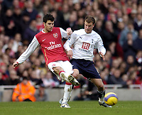 Photo: Olly Greenwood.<br />Arsenal v Tottenham Hotspur. The Barclays Premiership. 02/12/2006. Arsenal's Francesc Fabregas and Tottenham's Teemu Tainio