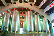 Modernista style vaulted winery. Fermentation tanks. Raimat Costers del Segre Catalonia Spain
