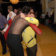 Same-sex ballroom dancer Willem Alexander, of Jersey City hugs his mother, Carmen Cevallos, after coming in second in the .men's latin A category competition at the 5 Boro Dance Challenge on May 5, 2007...The locally produced 5 Boro Dance Challenge, New York City's first major same-sex dance competition, was held at the Park Central Hotel in Manhattan from May 4-6, 2007. .