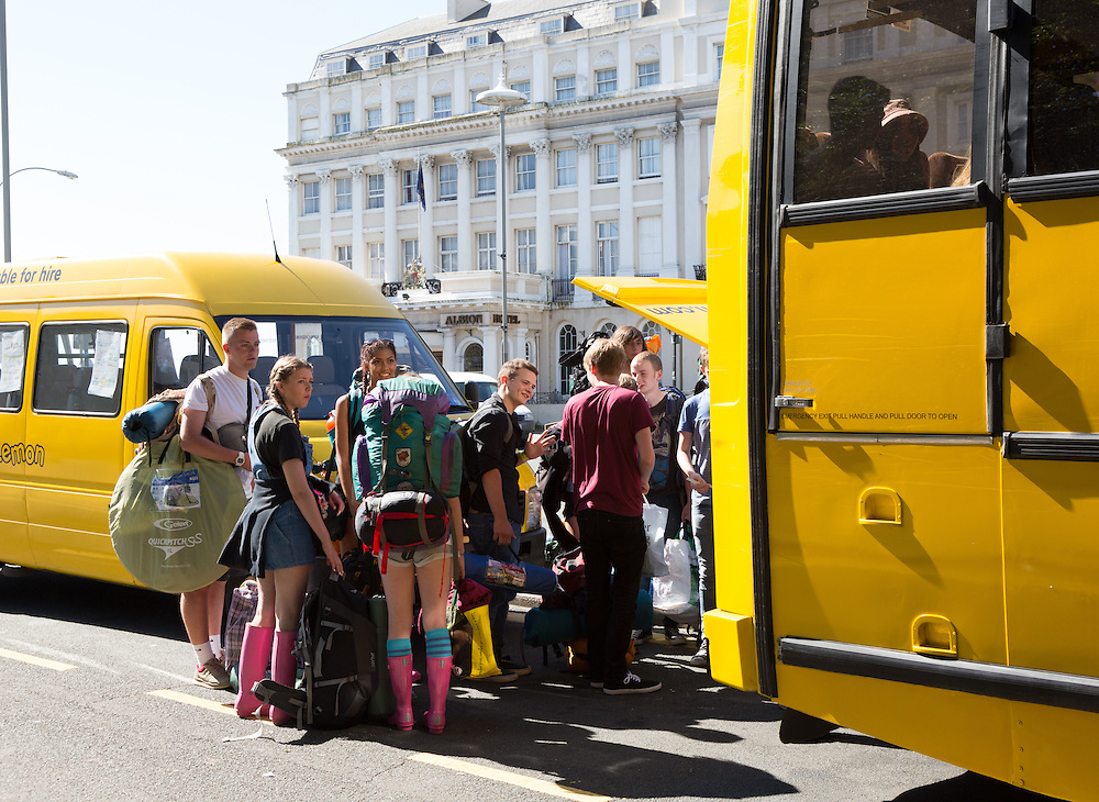 The Big Lemon is owned by the people of Brighton through a share scheme, and because it's a registered Community Interest Company (CIC), it's profits go straight back into the service. Bus routes and special excursions are intended to benefit local people, such as the late night Universities. Pictured is a Festival coach en route to Latitude in Suffolk.