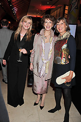 Left to right, IMOGEN STUBBS, MAURENN LIPMAN and JENNY AGUTTER at the Costa Book Awards 2012 held at Quaglino's, 16 Bury Street, London SW1 on 29th January 2013.