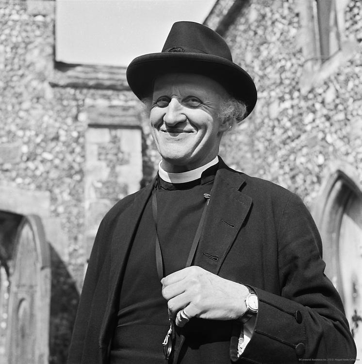 Vicar at King's School, Canterbury, Kent, England, 1945