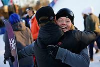 Snowboard , X-Games Oslo <br /> 27. Februar 2016  , 20160226<br /> Snowboard, Big Air Tøyen<br /> Johanne Killi etter sin andreplass <br /> Foto: Sjur Stølen / Digitalsport