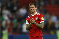 June 24, 2017 - Kazan, Russia - Fedor Smolov of Russia national team reacts after his team lost during the Group A - FIFA Confederations Cup Russia 2017 match between Russia and Mexico at Kazan Arena on June 24, 2017 in Kazan, Russia. (Credit Image: © Mike Kireev/NurPhoto via ZUMA Press)