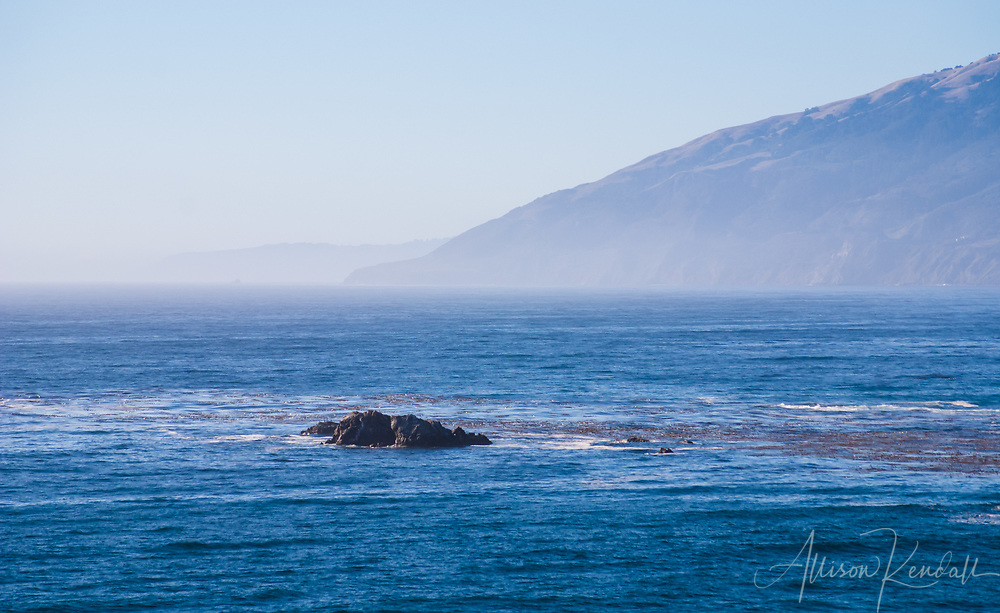 The Big Sur coastline on a September afternoon in California