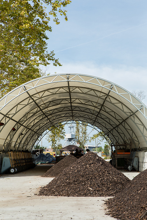 Piles of compost at the Red Hook Community Farm.