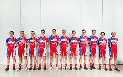 Group photo during photo session of Cycling Team KK Adria Mobil, on January 22, 2018 in Novo Mesto, Novo Mesto, Slovenia. Photo by Vid Ponikvar / Sportida
