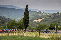 Peloton in Crni Kal during Stage 1 of 24th Tour of Slovenia 2017 / Tour de Slovenie from Koper to Kocevje (159,4 km) cycling race on June 15, 2017 in Slovenia. Photo by Vid Ponikvar / Sportida