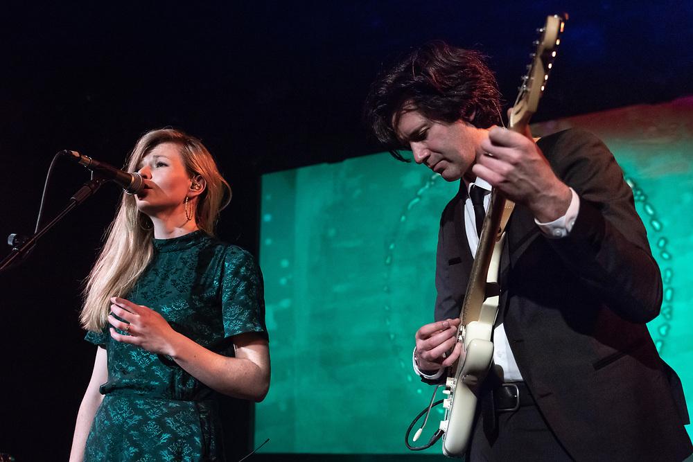Tessa Murray and Greg Hughes of British dream-pop duo Still Corners at Hafen 2 in Offenbach