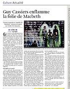 MCBTH: article La Libre Belgique (BE)