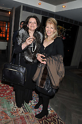 Left to right, MARIKA BRENNAN and LINDY BROCKWAY sister of Richard Branson at the Beulah AW13 Showcase, Bungalow 8 LFW Pop-Up at Belgraves - A Thompson Hotel, 20 Chesham Place, London SW1 on 13th February 2013.