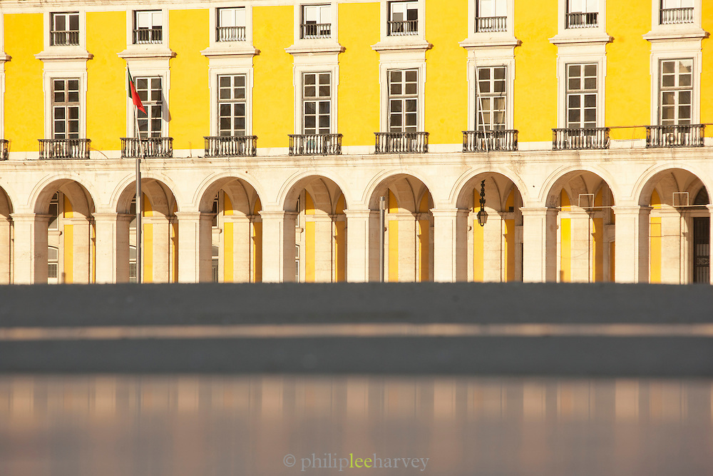 The Praca do Comercio, Commercial Square, is a popular meeting point and tourist spot in Lisbon, Portugal