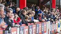 Football - 2016 / 2017 FA Cup - Third Round: Brentford vs. Eastleigh<br /> <br /> Eastleigh fans wait for their team to emerge at Griffin Park.<br /> <br /> COLORSPORT/DANIEL BEARHAM