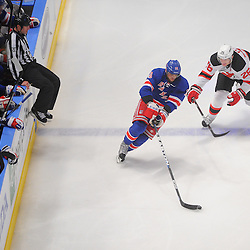 May 14, 2012: New York Rangers right wing Marian Gaborik (10) skates past New Jersey Devils center Patrik Elias (26) during third period action in game 1 of the NHL Eastern Conference Finals between the New Jersey Devils and New York Rangers at Madison Square Garden in New York, N.Y. The Rangers defeated the Devils 3-0.