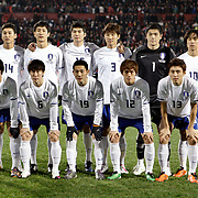 South Korean's players (Left to Right) (Front Row) Hong Jeong-HO, Lee Yong-RAE, Nam Tae-HEE, Hong CHUL, KOO Ja-Cheol, (Back Row) (Left to Right) Lee Jung-SOO, Ji Dong-WON, Yun Suk-YOUNG, Hwang Jae-WON, goalkeeper Jung Sung-RYONG, Park Chu-YOUNG during their International friendly soccer match Turkey between South Korean at the Avni Aker stadium in Trabzon, Turkey on Wednesday 09 February 2011. Photo by TURKPIX