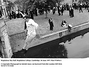 Magdalene May Ball, Magdalene College, Cambridge. 18 June 1997. Film 97585f13<br />© Copyright Photograph by Dafydd Jones<br />66 Stockwell Park Rd. London SW9 0DA<br />Tel 0171 733 0108