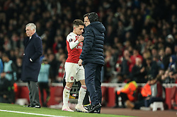 Lucas Torreira of Arsenal is substituted - Mandatory by-line: Arron Gent/JMP - 11/04/2019 - FOOTBALL - Emirates Stadium - London, England - Arsenal v Napoli - UEFA Europa League Quarter Final 1st Leg
