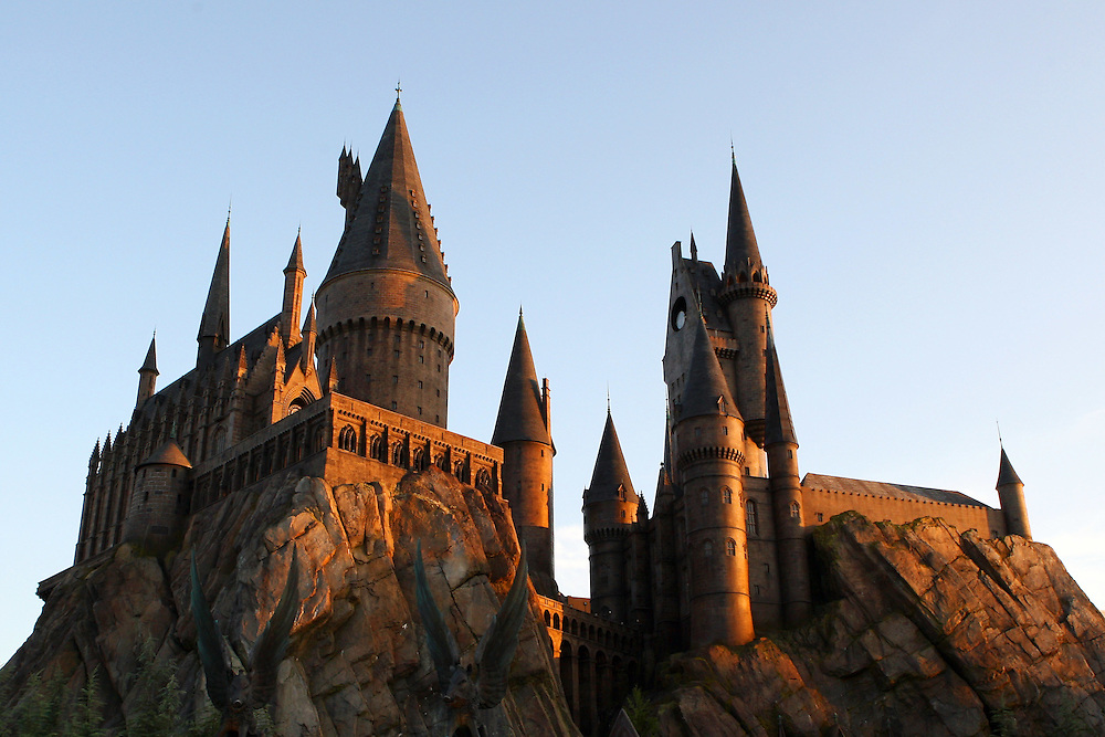 General view of Hogwarts Castle at Islands of Adventure.