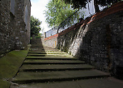 The forty steps leads through Dublin's original city walls to St. Audoen's ChurchThe gate is dated to 1241 AD, the Norman period, while the church tower dates to 1190, and the bells to 1423. The steps here are connected to a ghost story involved the notorious prostitute Darkey Kelly.....