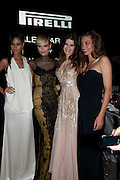 JOAN SMALLS; MARGARET MADE; ISABEL FONTANA; NATASHA Poll ; , The Global launch of the 2012 Pirelli Calendar by Mario Sorrenti.  Dinner at the Park Avenue Armory. Manhattan. 6 December 2011.