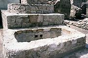 Stone water trough at Aqaba Castle, Mamluk Castle, Aqaba, Jordan, Crusaders fortress in 1998